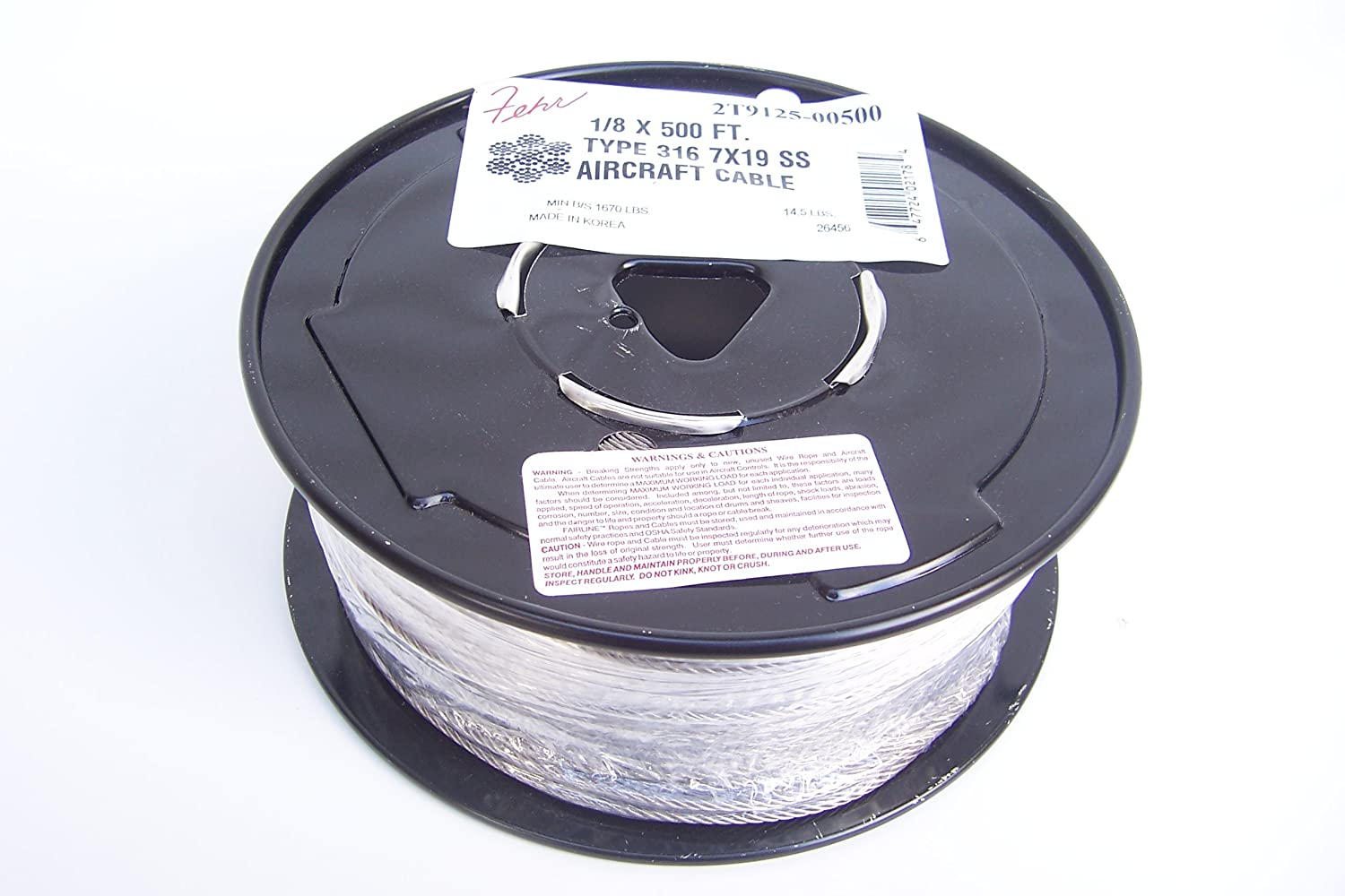Type 316 Stainless Steel Cable 1/8\