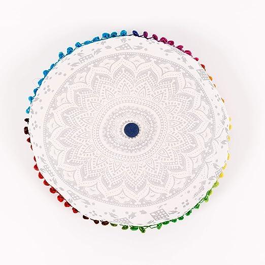 Zen Lotus Mediation - Cojines de mediación, diseño Hermoso, Hechos a Mano, espirituales, Regalos, cojín Incluido, Hippie, Bohemio, Indio, Bohemio, ...