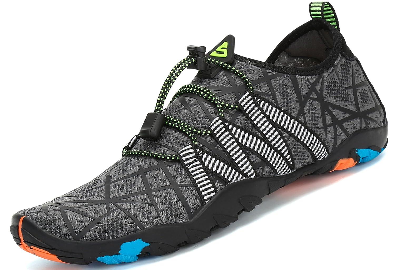 Chaussures Aquatique pour Homme Femme Chaussons de Plage de d'eau avec Lacets...
