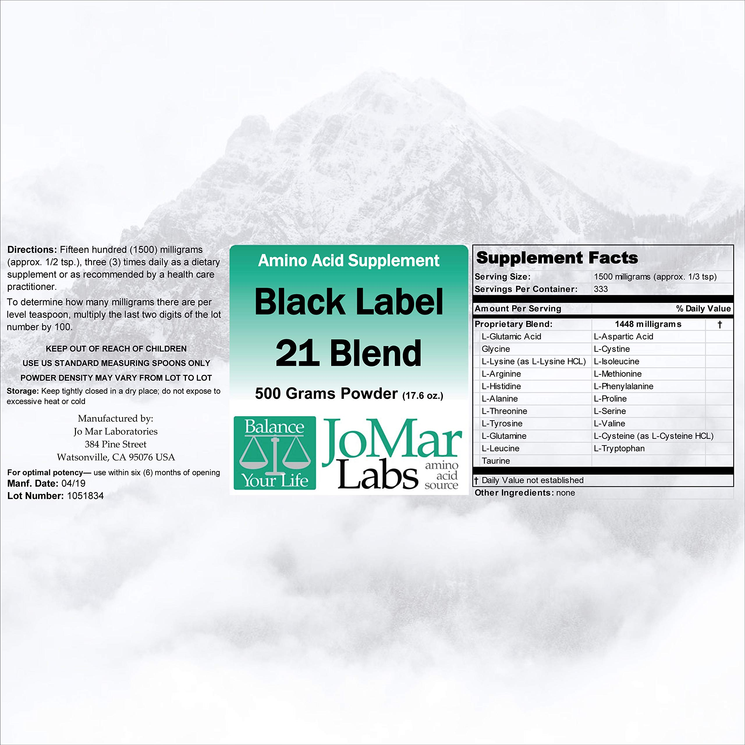 Jo Mar Labs Black Label Pure Form 21 Blend 500 g Powder by Jo Mar Labs