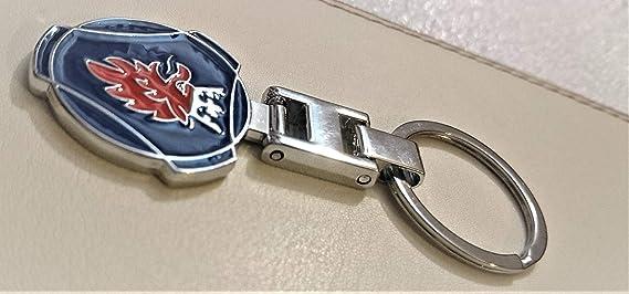 Schlüsselanhänger Doppelseitiges Logo Metall Für Scania Saab Schlüsselanhänger In Geschenkbox Auto