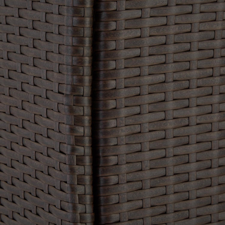 TecTake Set di mobili poli rattan set 6+1 arredamento giardino disponibile in diversi colori - involucro protettivo Antico | no. 402060 viti in acciaio inox