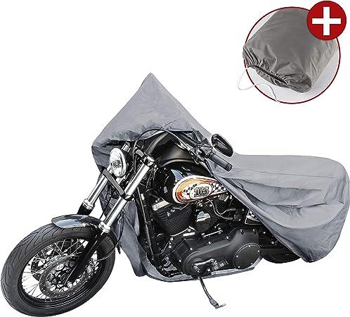 Walser 41090 Motorradgarage Chopper Gr L Abdeckplane Pvc 250x100x130cm Grau Motorradabdeckung Motorradplane Wasserdicht Motorrad Schutzplane Auto