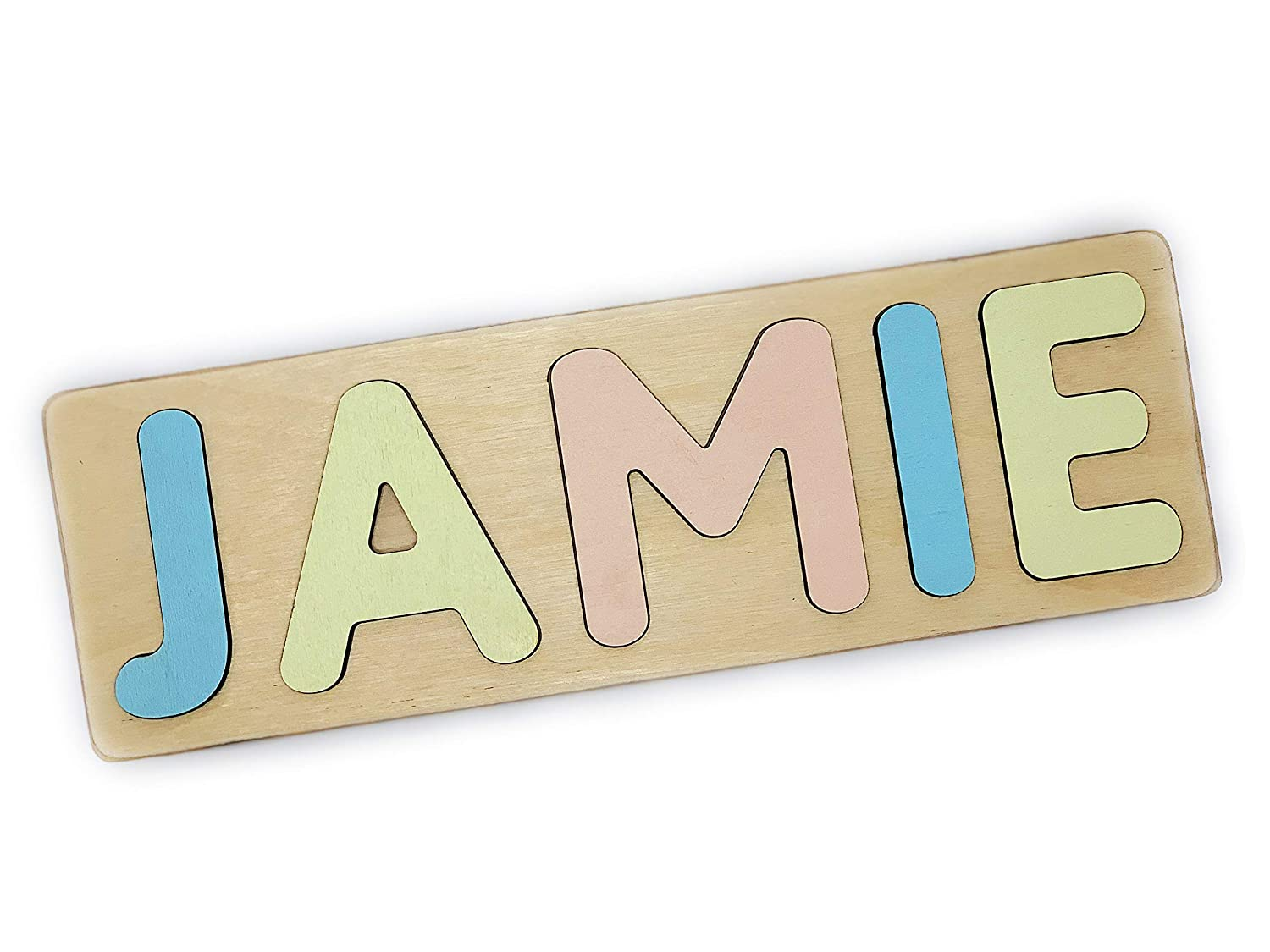 Busy Board Personalized Gift Name Puzzle for Baby Shower and First Birthday