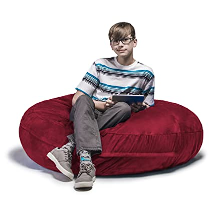 Avana Jaxx Cocoon 4 Ft Foam Bean Bag Chair, Microsuede