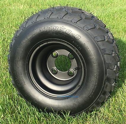 Amazon.com: RHOX RXAL 18x8-8 All Terrain Golf Cart Tires and 8 ... on