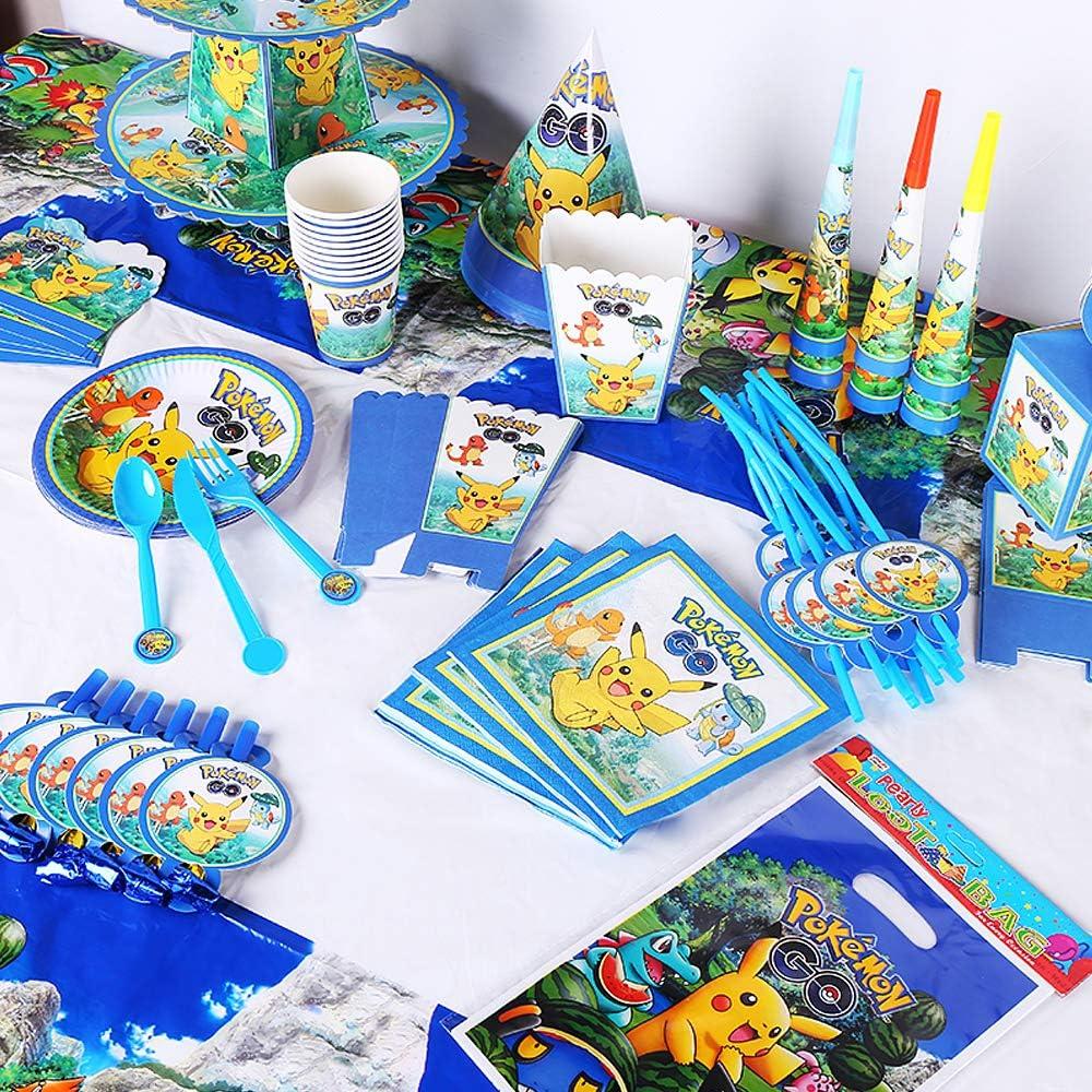 Amazon.com: Nidezon Pokemon Paquete de suministros de fiesta ...