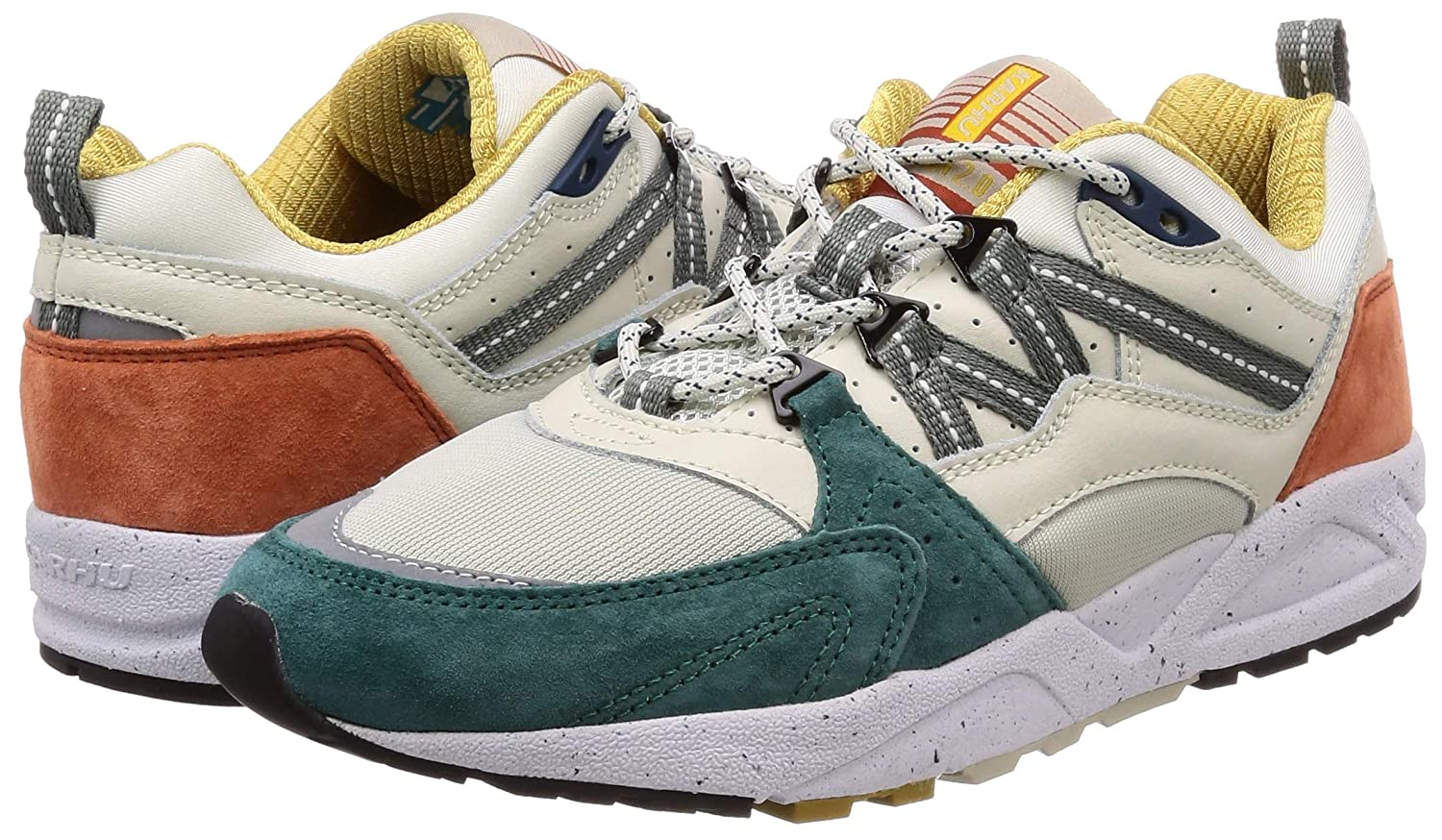 Karhu Man's 2.0 Fusion 2.0 Man's Beige, Teal and Rust Leather and Nylon Sneaker 11|Multicolour B07F3XN2X7 a0f6f5
