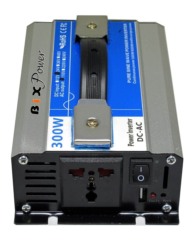 Bixpower 24v Dc 20v 30v To 110v Ac 300w True Pure Sine Inverter Idea Wave Power Das24300 Garden Outdoor