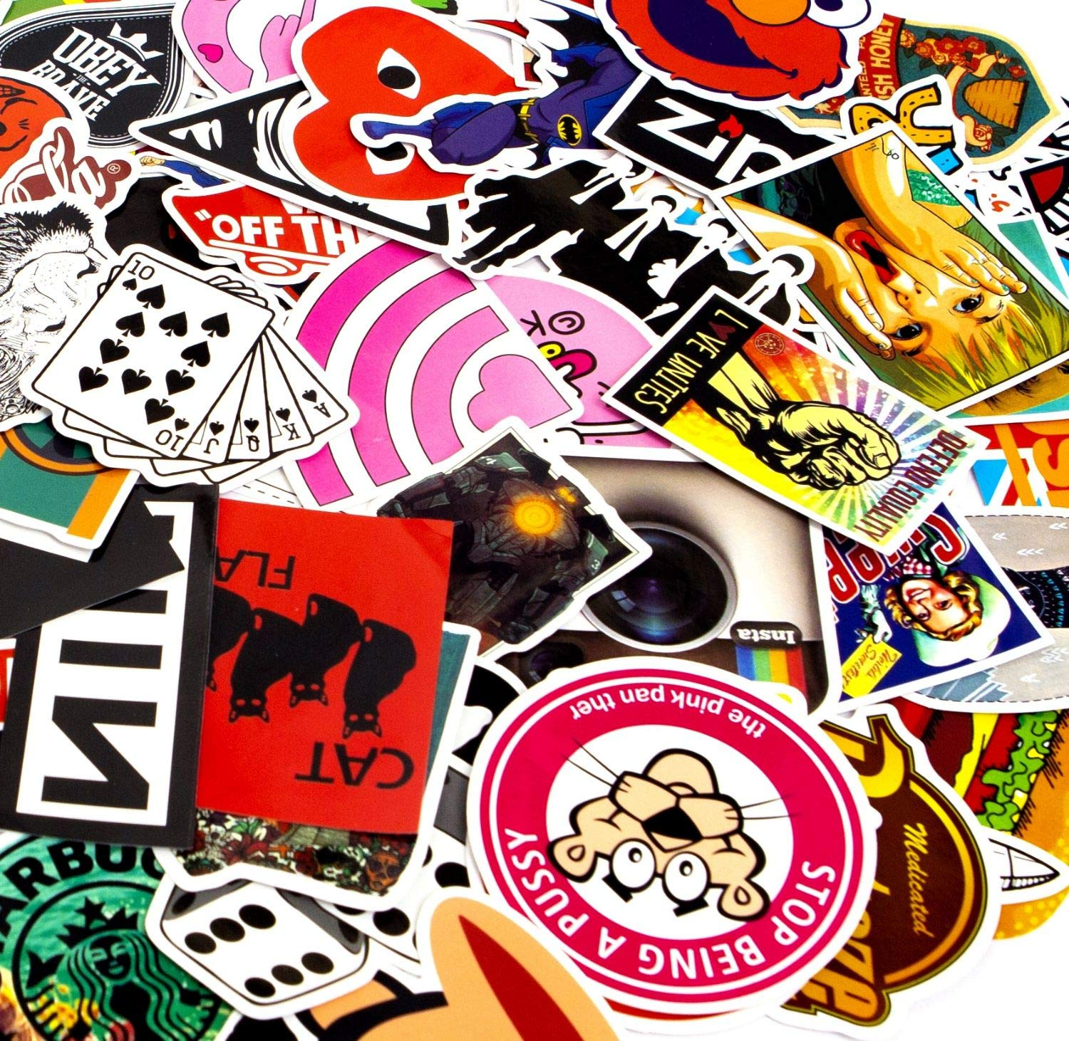 200-Pcs Featured Stickers Decals Vinyls for Laptop,Kids,Cars,Motorcycle,Bicycle,Skateboard Luggage,Bumper ,Suitable for children and adults of all ages,Fast Shipped by 50~500 Pcs//Pack