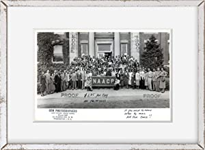 INFINITE PHOTOGRAPHS 1950 Photo: Conference | NAACP Banner | Howard University, Washington DC | Poster Wall Art Decor | Vintage Photo Decor