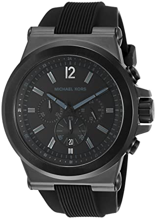 cff06a877ed9 Amazon.com  Michael Kors Men s Dylan Black Watch MK8152  Michael Kors   Watches
