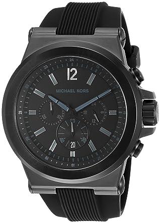 c6aadbc286c8 Amazon.com  Michael Kors Men s Dylan Black Watch MK8152  Michael Kors   Watches