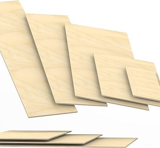 10x30 cm 6mm Sperrholz-Platten Zuschnitt L/änge bis 150cm Birke Multiplex-Platten Zuschnitte Auswahl