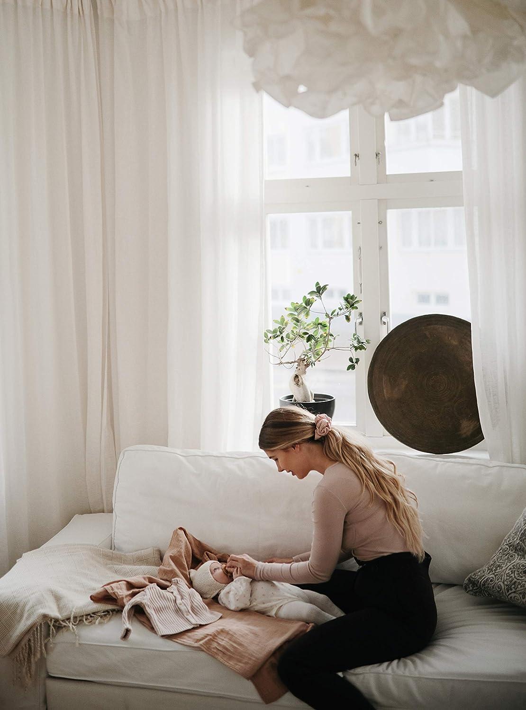 100/% Organic Cotton Flowers mushie Muslin Baby Swaddle Blanket