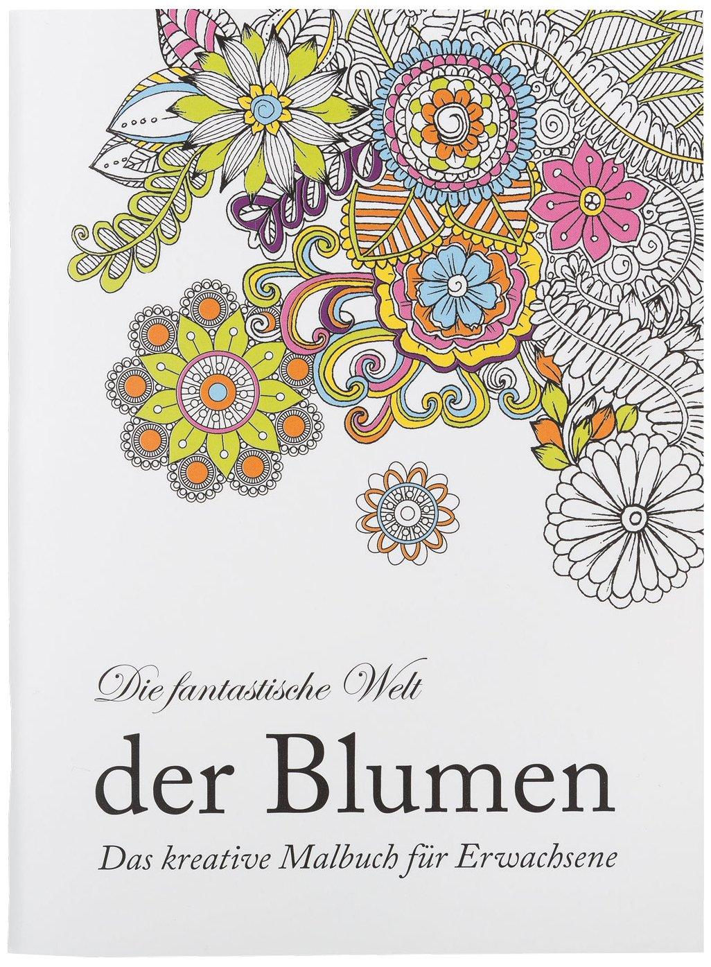 Idena 68127 - Malbuch für Erwachsene, Motiv Blumen, 64 Seiten ...