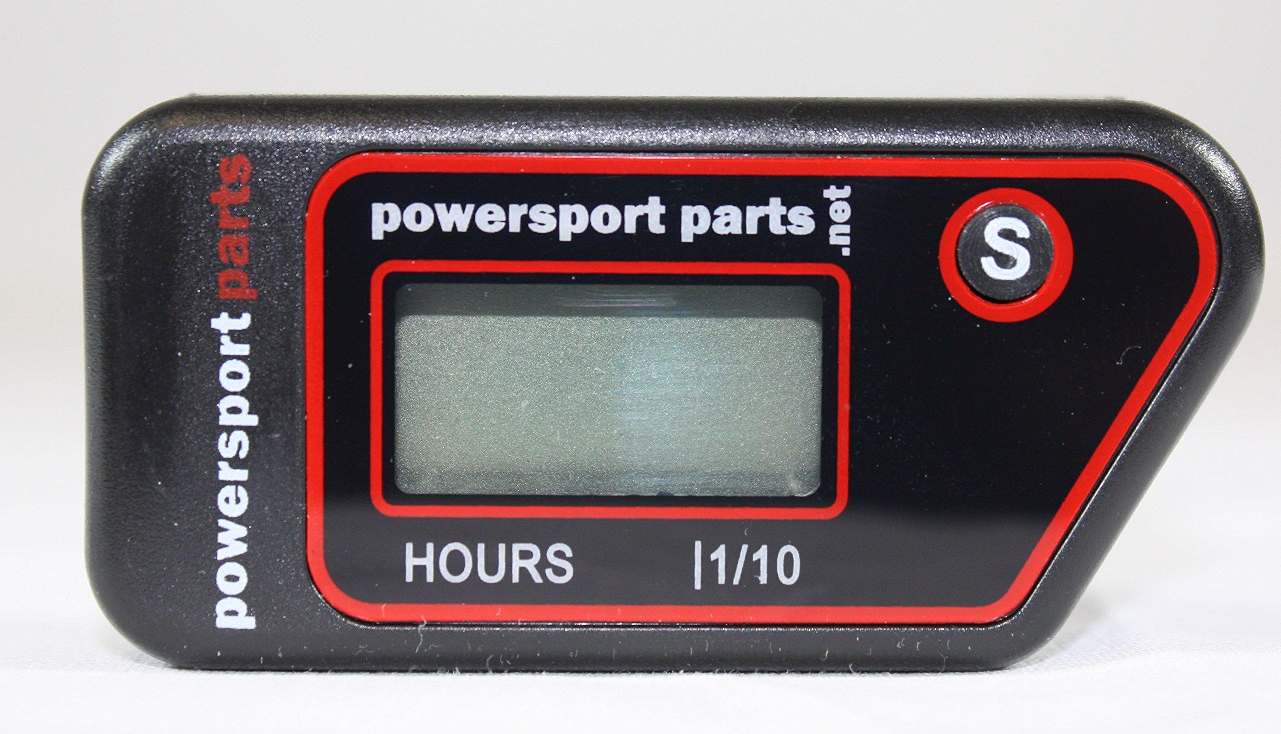PSP Digital Waterproof Wireless Hour Meter for Motorcycle ATV Generator Small Engine by Powersport Parts