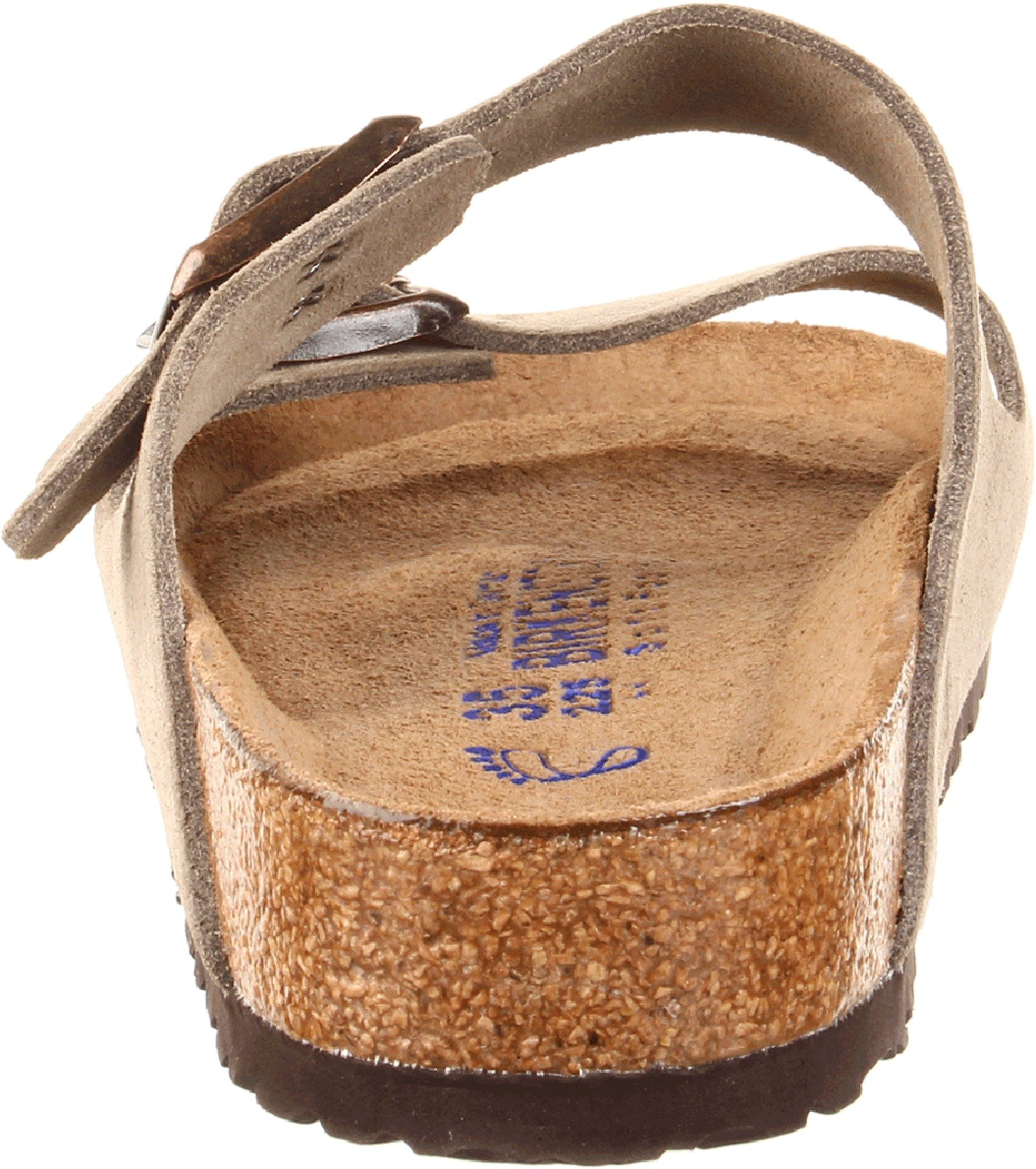 Birkenstock Unisex Arizona Taupe Suede Soft Foot Bed Sandals - 38 M EU / 7-7.5 B(M) US by Birkenstock (Image #2)
