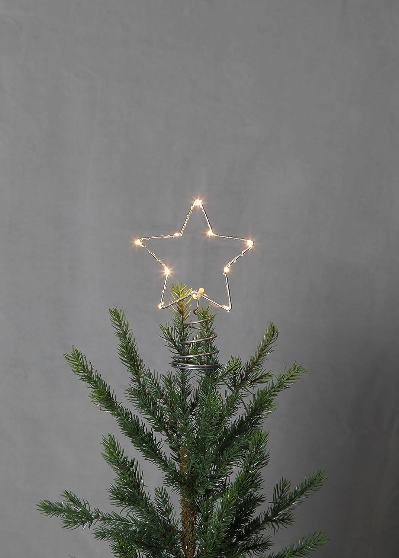 Metallo 1.4/x 2.0/x 0.55/cm punta per albero di NataleTopsy /94/LED Argento Star 089/ 10/LED luce bianca calda
