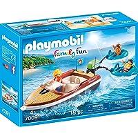 PLAYMOBIL Family Fun Lancha con Flotadores, A partir