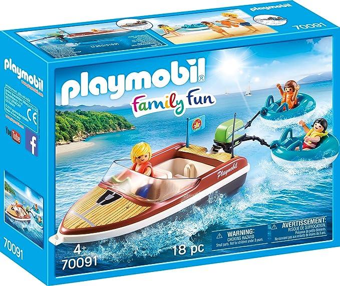 Amazon.com: PLAYMOBIL 70091 - Figura decorativa de barco con ...