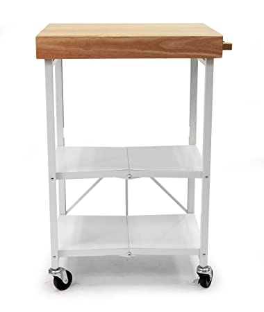 Amazon.Com: Origami Rbt-04 Foldable Kitchen Island Cart, White