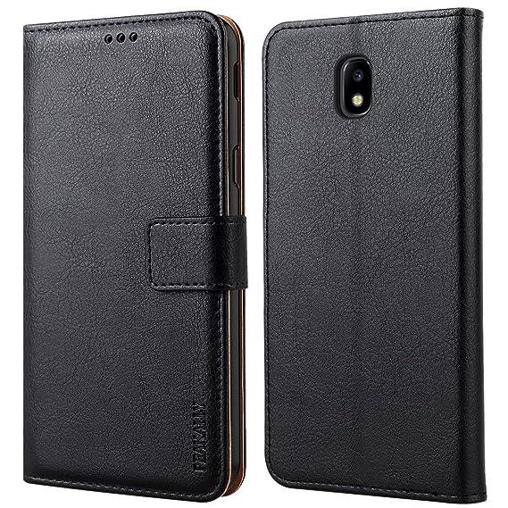 Peakally Samsung Galaxy J5 2017 Hülle, Premium Leder Tasche Flip Wallet Case [Standfunktion] [Kartenfächern] PU-Leder Schutzh