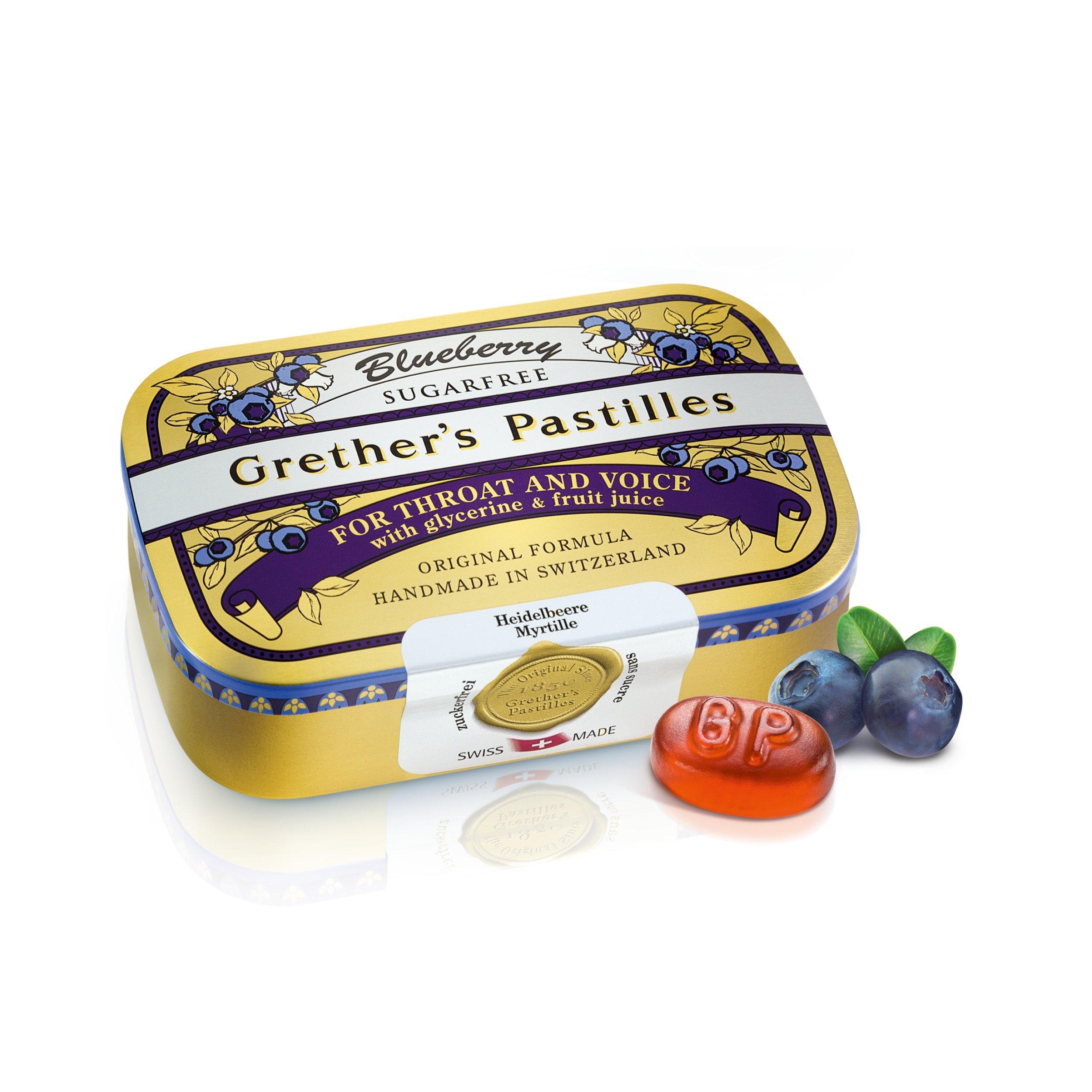 GRETHER'S PASTILLES Blueberry Sugar Free 110G/3.75OZ