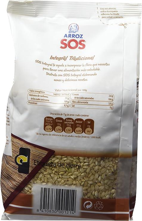 Arroz SOS - Arroz Integral SOS 1 Kg - [pack de 4]: Amazon.es ...