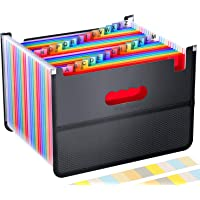 26 Pockets Accordian File Organizer,Expanding Filing Box with Mesh Bag,Accordion File Folders Expandable Cover,Portable…