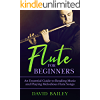 Flute for Beginners: An Essential Guide to Reading Music and Playing Melodious Flute Songs book cover