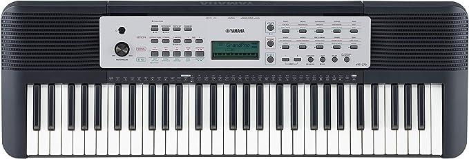 Yamaha YPT-270 - Teclado digital, Función de aprendizaje, 61 teclas, 143 estilos automáticos, negro