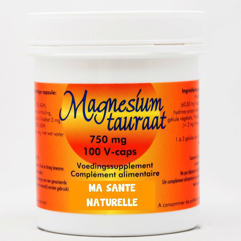 Taurato de magnesio – 750 mg – 100 Cápsulas vegetales: Amazon.es: Salud y cuidado personal