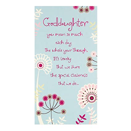 Amazon Goddaughter Birthday Greetings Cards Office Products