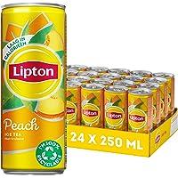 Lipton Ice Tea Peach een heerlijk verfrissende ijsthee - 24 x 250 ml - Voordeelverpakking
