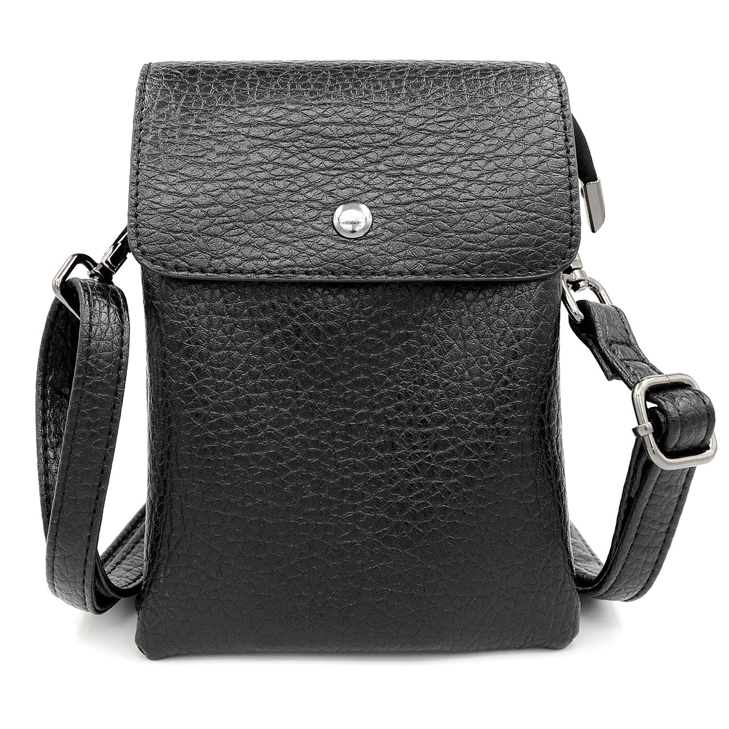 Womens PU Leather Shoulder Bags Small Crossbody Purses Cell Phone Pouch