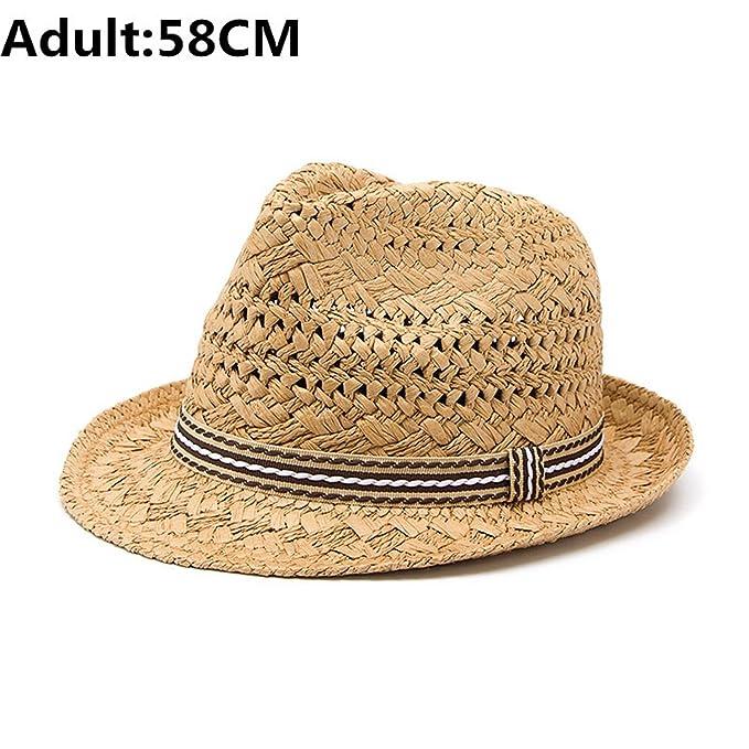 3f4a7a00d3c58 ylovego 100% Handwork Straw Child Summer Sun Hat Boy Boho Beach Fedora Hat  Sunhat Trilby