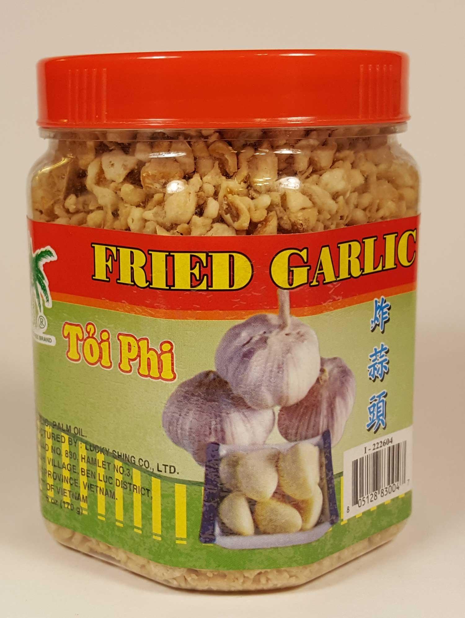Fried Garlic Coconut Tree Jar 6oz (170g) Asian Vietnamese Thai Cuisine Crunchy Condiment