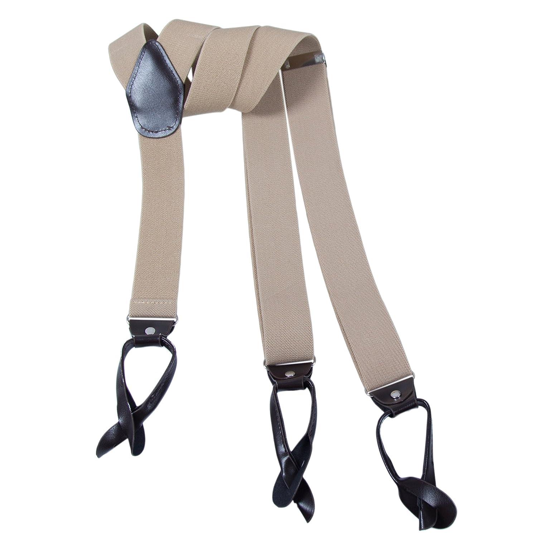 35mm Forme de Y R/églable Bretelles Kajeer Boutons Bretelles pour Femmes Hommes