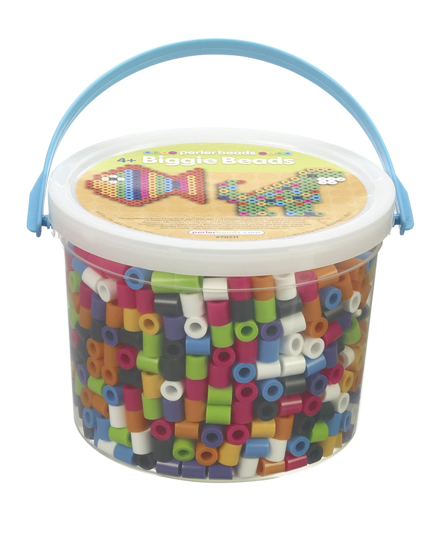 Perler Beads Biggie Beads Fuse Bead Activity Kit for Kids Crafts, 1200 pcs