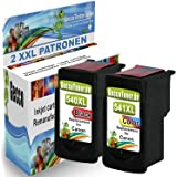 Premium Set of 2 compatible ink cartridges for Canon PG-540 XL + CL-541 XL for Pixma MX395 MG2150 MX430 MX455 MG2250 MX475 MX515 MX525 MG3500 MG3150 MG3255 MG4250 MG4150 MG3250 MX535 MG3550 MX530 MG3140 MX375 MG3650 MX435 Ink cartridge (Black, Colored) 1xPG-540+1xCL-541-Canon