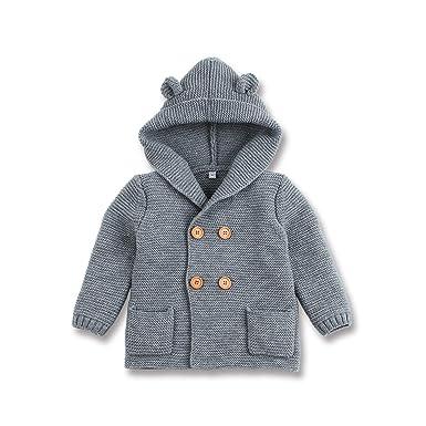 0197988a1 mimixiong Baby Sweater Cardigan Boy Jackets Long Sleeve Hooded Coats:  Amazon.co.uk: Clothing