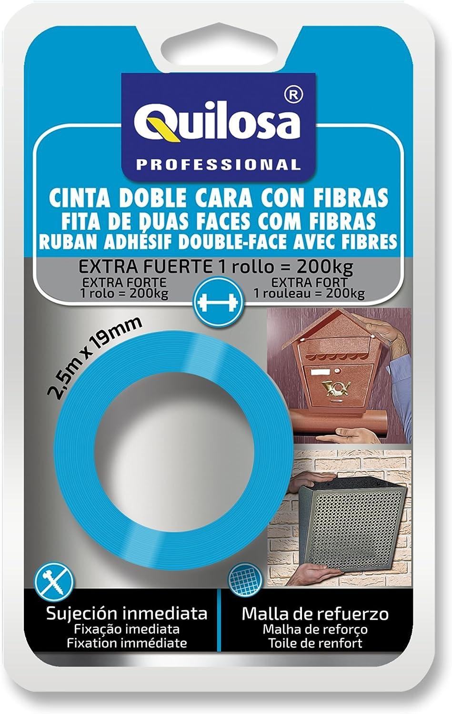 Azul Quilosa T021295 Cinta De Doble Cara Con Fibras