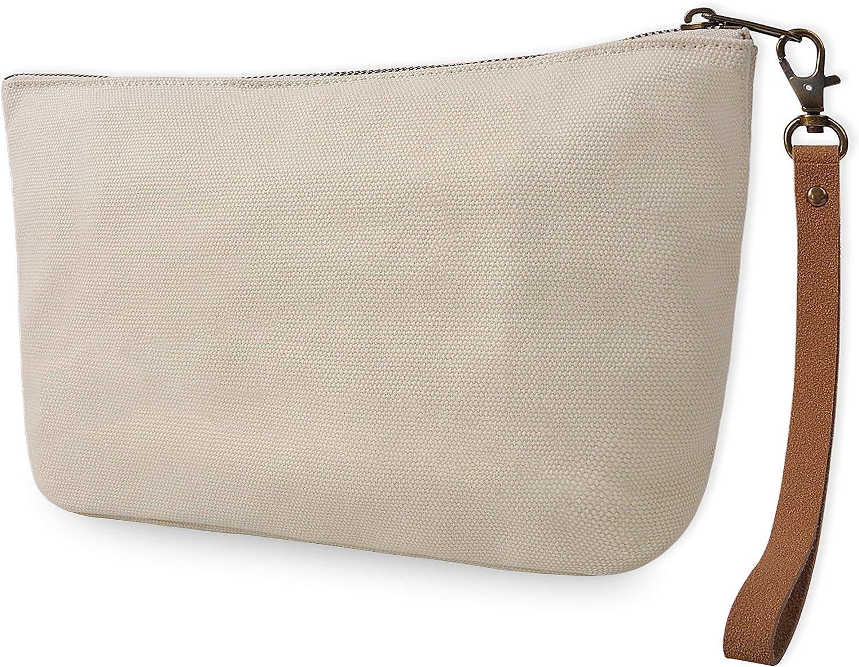 Vercrod Minimalist Travel Canvas Makeup Cosmetic Bag Purse Pouch Handbag Oragnizers 1 Pocket