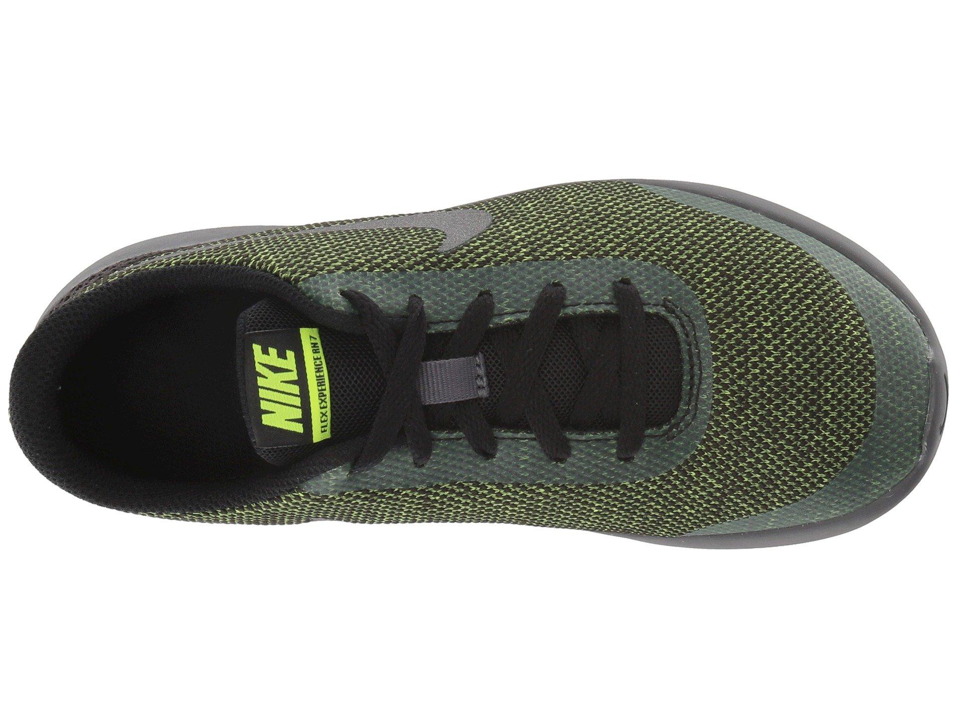 Nike Kids Flex Experience RN 7 (GS) Running Shoes (3.5 Big Kid M, Black/Metallic Dark Grey/Volt/Dark Grey) by Nike (Image #9)