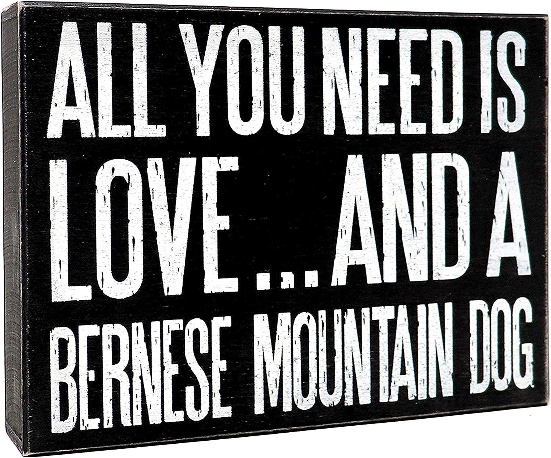 JennyGems Bernese Mountain Dog Sign, All You Need Is Love And A Bernese Mountain Dog, Bernese Mountain Dog Gifts, Bernese Mountain Dog Moms and ...