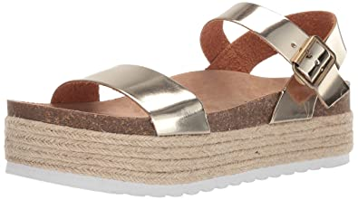 70661baed Dirty Laundry by Chinese Laundry Women's Palms Espadrille Wedge Sandal Gold  Metallic 6 ...