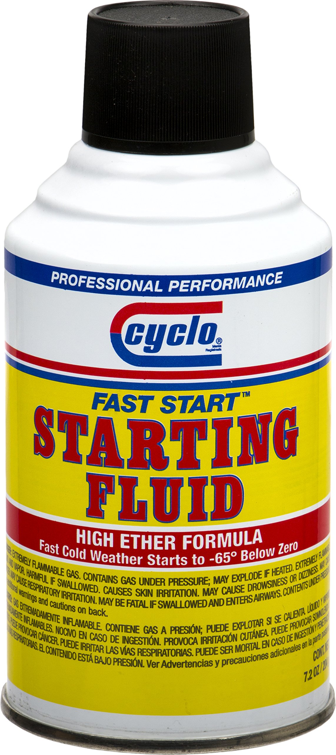Niteo Cyclo Fast Start Starting Fluid, High Ether Formula, 7.2 fl oz, Case of 12 by Niteo