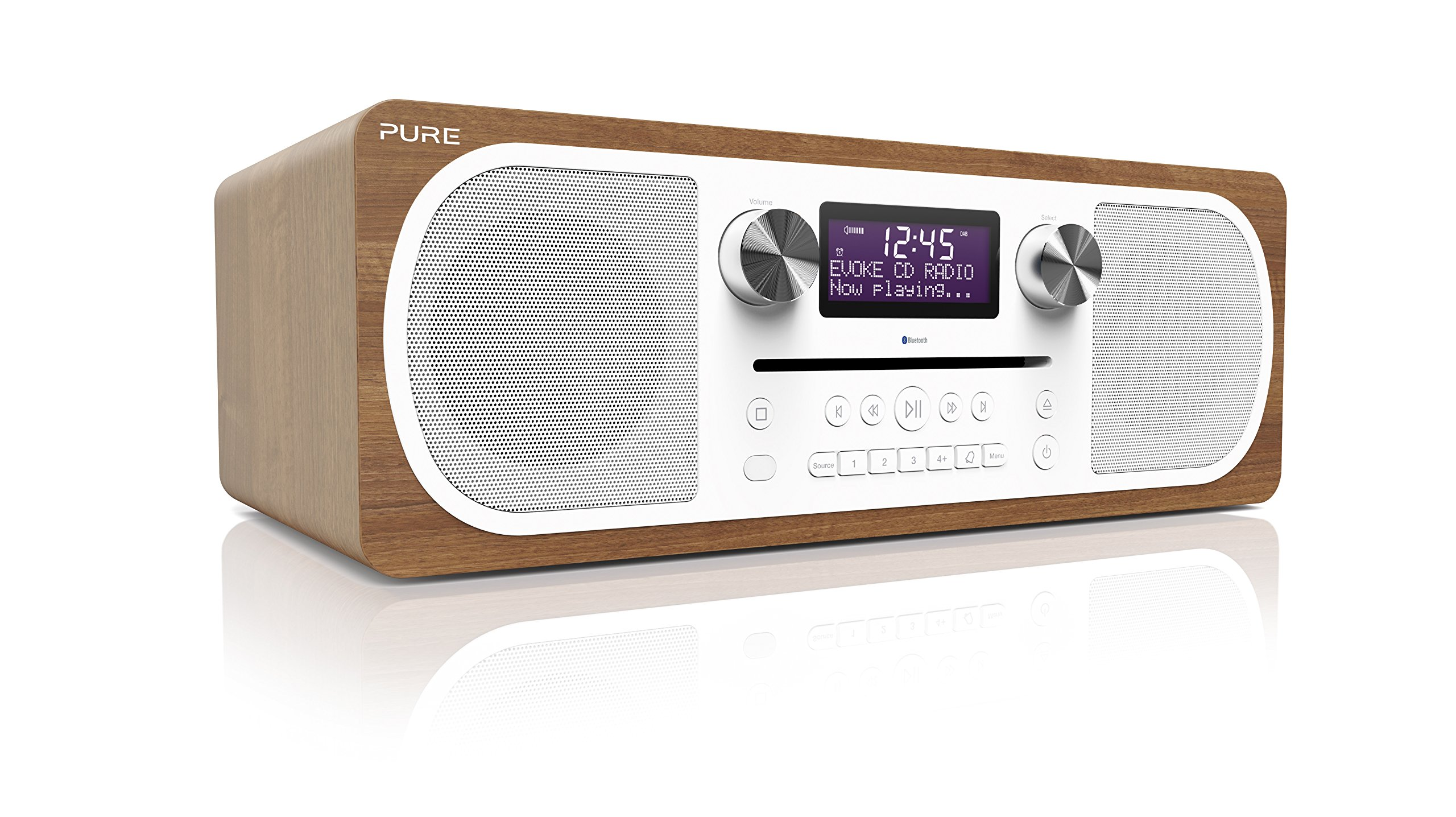 pure evoke c d6 stereo digital dab fm radio with cd and. Black Bedroom Furniture Sets. Home Design Ideas