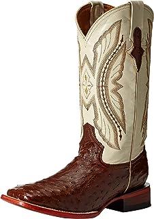 18c18c76556 Amazon.com | Ferrini Men's Smooth Ostrich Square Toe Cognac Western ...